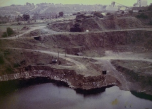 Blue Rock Quarry area - photograph courtesy of Mick Southall, Rowley Olympic Rooms, Portway Hill