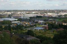 View from the Rowley Hills towards Birmingham city centre (image © Mike Poulton)