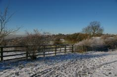 Rowley Hills winter scene near riding stables (image © Mike Poulton)