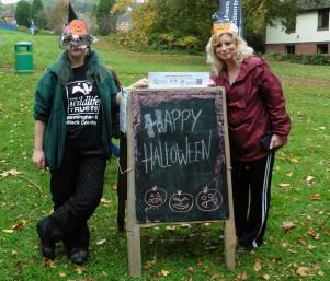 Laura & Jayne embracing the Halloween spirit!