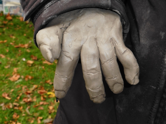 A very ghoulish clay hand!