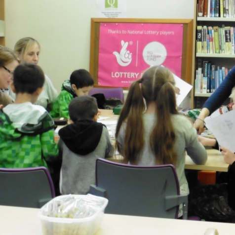 Christmas crafting at Oakham Library