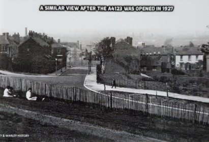 A similar view after the A4123 was opened in 1927